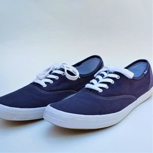 Keds Champion Canvas lace up Sneakers Navy Blue 10